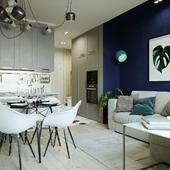 Проект трехкомнатной квартиры.