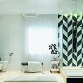 Проекты ванны в коттедже #corona render