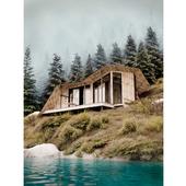House at the Big Almaty Lake