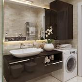 3д визуализация интерьера санузла жилой квартиры г.Киев, Украина