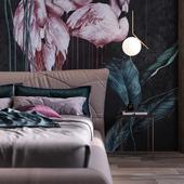 Flamingo bedroom
