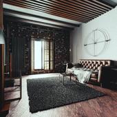 Зал в стиле loft