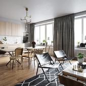 Интерьер квартиры выполненный по референсу