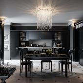 Кухня в темной стилистике Референс