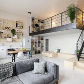 Квартира в Амстердаме (сделано по референсу)