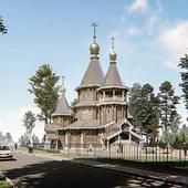Деревянный храм в г. Дзержинск