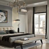 Визуализация спальни в современном стиле