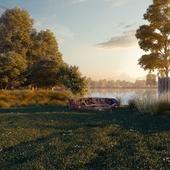 Рассвет у озера