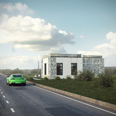 roadside building