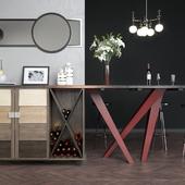 Обеденный стол с баром