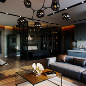 Мужская квартира-студия