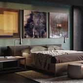 Bedroom. Autumn.