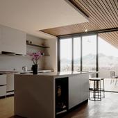 Mountain view flat interior.