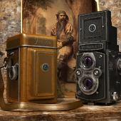 Среднеформатная двухобъективная зеркальная фотокамера Yashica.