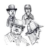 black gel pen sketches