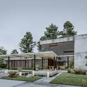 Элитный загородный дом в стиле модерн