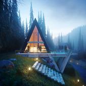 """Копия """"Cabins for Single family"""" от IDEAL ARCH VISUALS (сделано по референсу)"""
