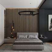 """Визуализация квартиры в Астане. Спальня.  ЖК """"Arnau Premium""""."""