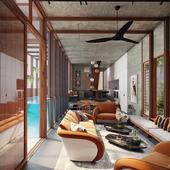 Living Screen House, Sydney(сделано по референсу)