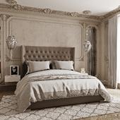 Роскошная спальня с камином