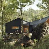 House Above the Rocks (выполнено по референсу)