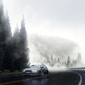 Audi RS6 C7 Avant on the mountain road