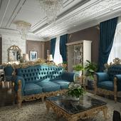 Зала в стиле современной классики