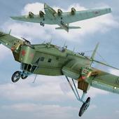 ТБ-3 (4 х М17). Полет