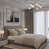 Luxry bedroom interior