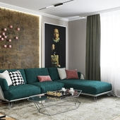 kitchen-living room interior