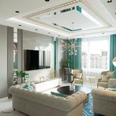 Дизайн и визуализация гостиной