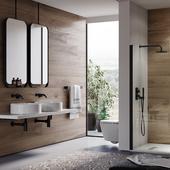 Визуализация ванной мебели.