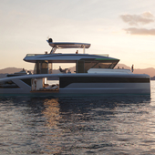 3D visualization - Oasis 80 Superyacht Concept