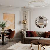 Квартира в Санкт-Петербурге - фрагменты гостиной