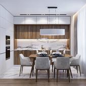 Дизайн интерьера двухкомнатной квартиры. Минимализм
