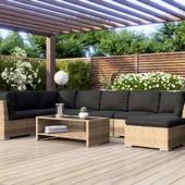 Визуализация летней мебели в разных окружениях.