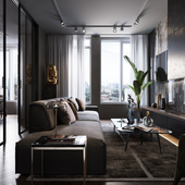 DARK SHADES APARTMENT DESIGN