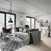 Apartment in Stockholm Sweden (сделано по референсу)