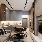 Дизайн_визуализация целой квартиры!!