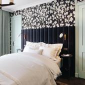 Спальня с сомнительным дизайном..