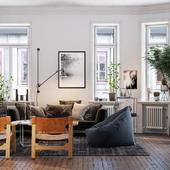 Апартаменты в Стокгольме (сделано по референсу)