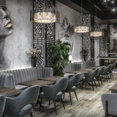 Industrial and Modern Style Design - Lounge and Grill Bar Design