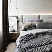 Спальня в квартире на обводном канале