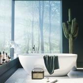 ванна-лес-кактус (сделано по референсу)