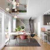 Modern apartment 2 floors