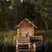 Отдых в рыбацком домике