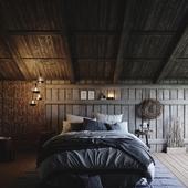 Bedroom interior (сделано по референсу)