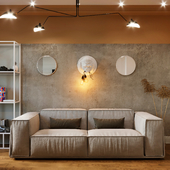 Гостиная в современном стиле в г. Сочи