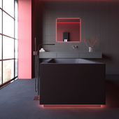 Bathroom design [ black water ]