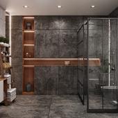bathroom bw